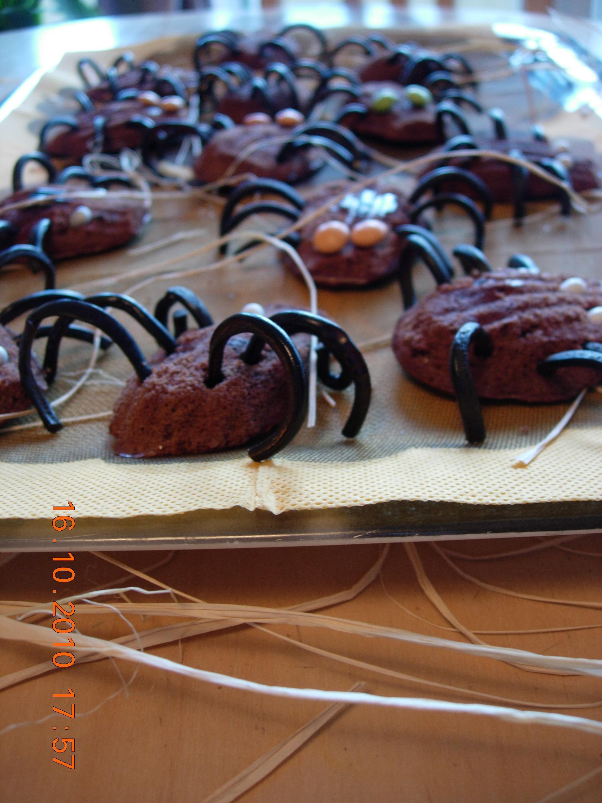 gateaux araignées